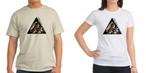 Fallen Food Pyramid Men's and Women's T-Shirts T-Shirts